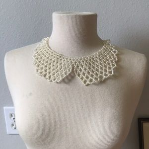 🍁Peterpan beaded collar necklace